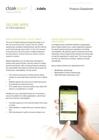 Datasheet: Payments & Banking Secure Apps