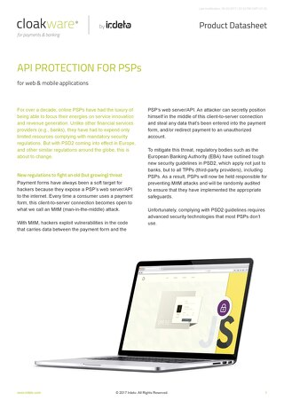Datasheet: API Protection for PSPs