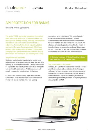 Datasheet: API Protection for banks