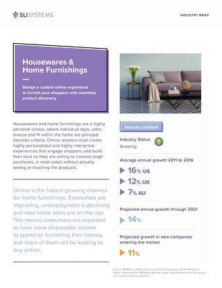Housewares and Home Furnishings Industry Brief
