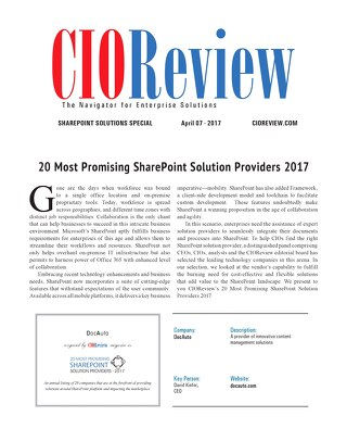 Article: CIOReview of SharePoint Solutions
