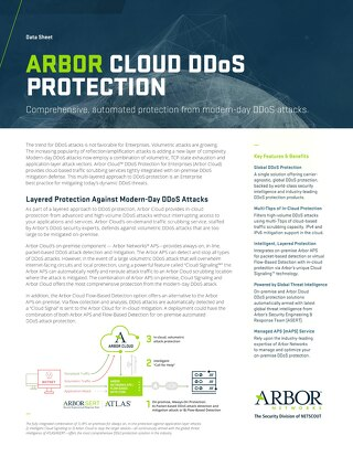 Arbor Cloud Enterprise Data Sheet 2017