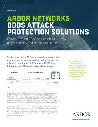 DDoS Attack Protection Solution Brief 2017
