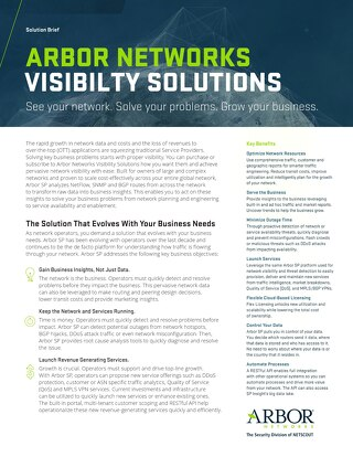 Visibility Solution Brief 2017