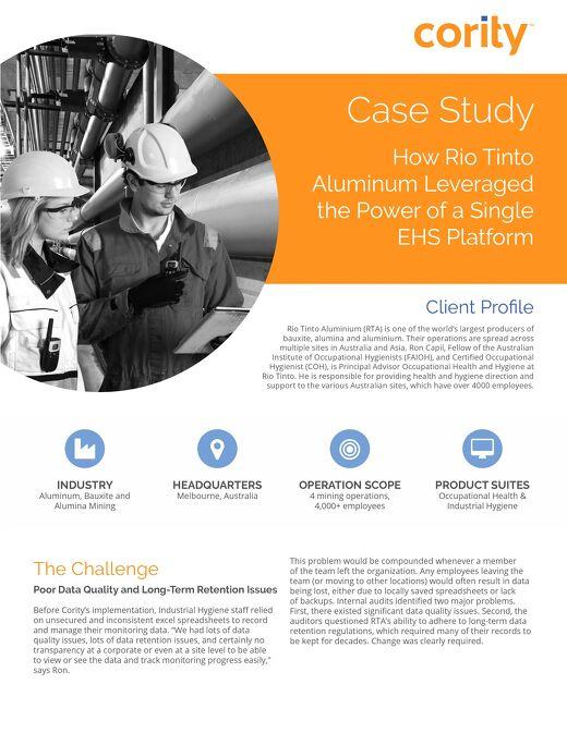 Rio Tinto Aluminum Case Study