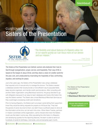 Customer Spotlight: Sisters of the Presentation