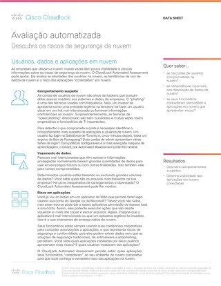 Cisco Cloudlock Automated Assessment – Portuguese