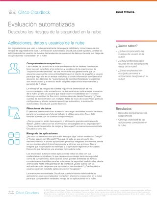 Cisco Cloudlock Automated Assessment – Spanish
