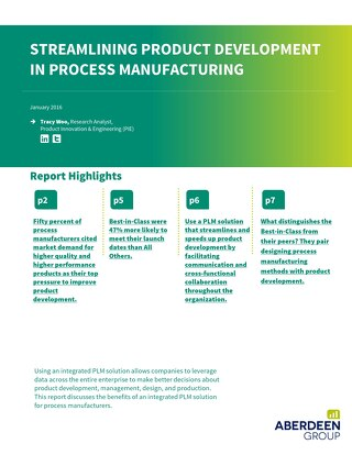 Streamline Product Development in Process Manufacturing