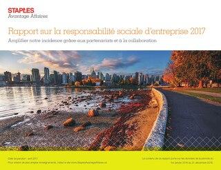 Rapport sur la responsabilité sociale d'entreprise 2017