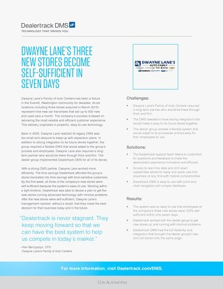 Dwayne Lane Case Study
