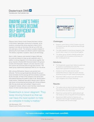 Dwayne Lane Case Study