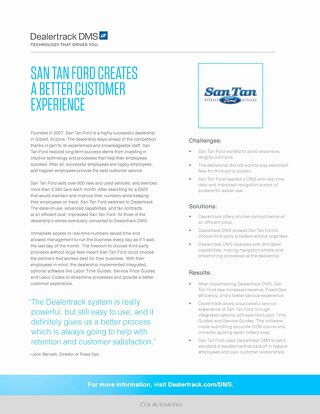 San Tan Ford Case Study