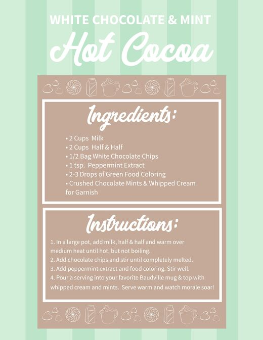 Campfire White Chocolate & Mint Hot Cocoa Recipe