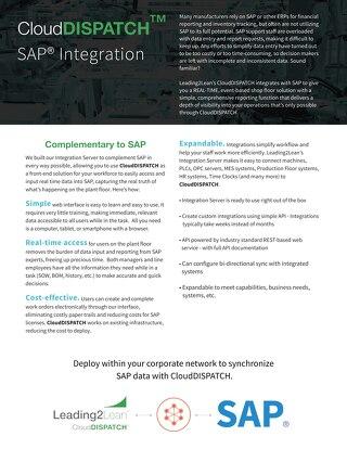 CloudDISPATCH and SAP