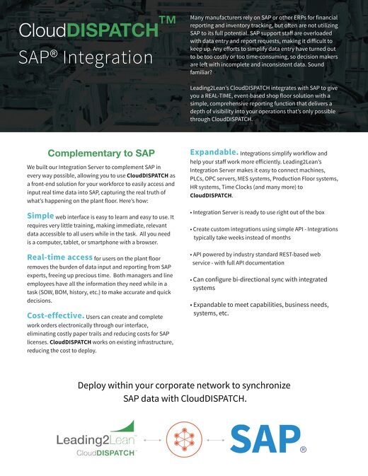 CloudDISPATCH and SAP