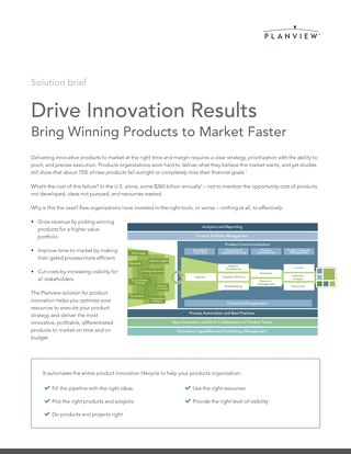 Drive Innovation Results - Planview Solution Brief