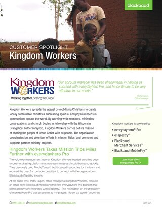 Customer Spotlight: Kingdom Workers