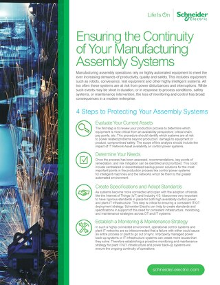 Ensuring the Continuity of Your Manufacturing Assembly Systems