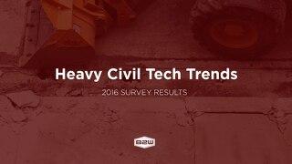 B2W Heavy Civil Construction Technology Survey Results May 2017