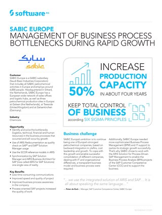 SABIC Europe manages process bottlenecks during rapid growth
