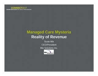 Susie Mix: Managed Care Mysteria