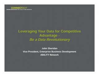 John Sheridan: Leveraging Your Data for Competitive Advantage