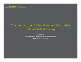 John Carter: The Intersection of Clinical and Administrative Roles in Skilled Nursing