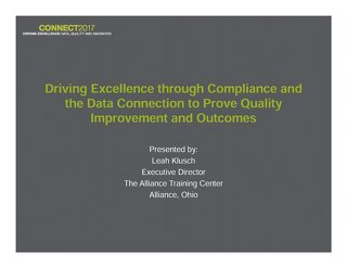 Leah Klusch: Driving Excellence through Compliance and the Data Connection to Prove Quality Improvement and Outcomes