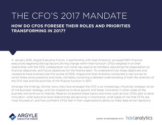 THE CFO 'S 2017 MANDATE