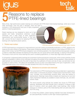 5 Reasons to replace PTFE bearings