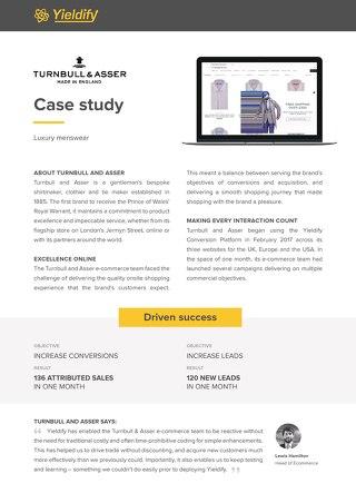 Yieldify case study - Turnbull and Asser