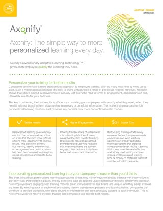 Axonify Adaptive Learning Datasheet