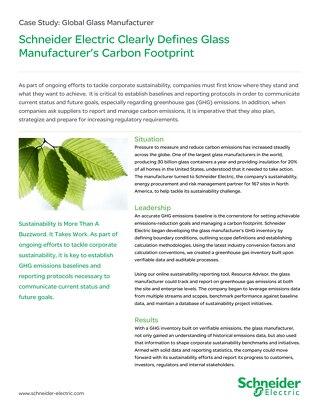Manufacturing: Glass Manufacturer