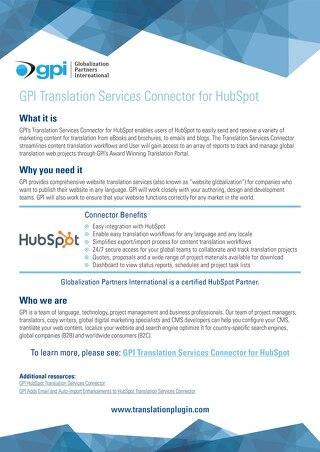 GPI HubSpot Connector Brief