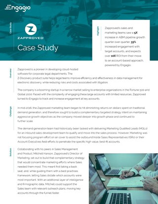 Engagio Case Study | Zapproved