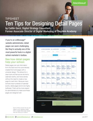 Ten Tips for Designing Detail Pages