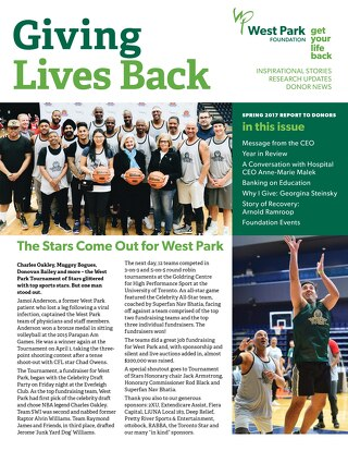 Giving Lives Back - Spring 2017