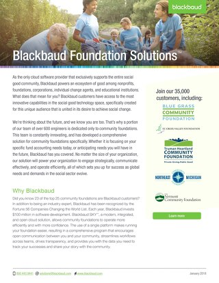 Community Foundation Solution