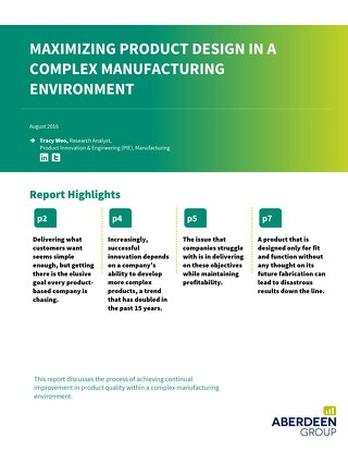 Maximizing Product Design in a Complex Manufacturing Environment