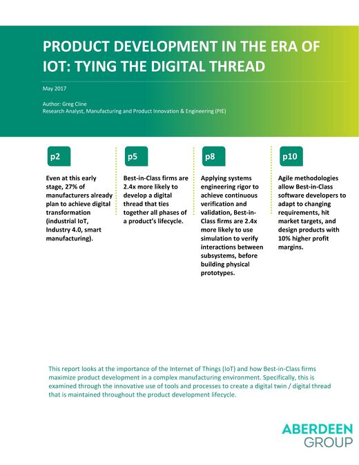 Product Development in the Era of IoT: Tying the Digital Thread