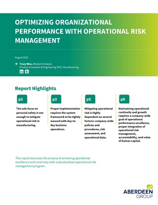 Optimizing Organizational Performance with Operational Risk Management