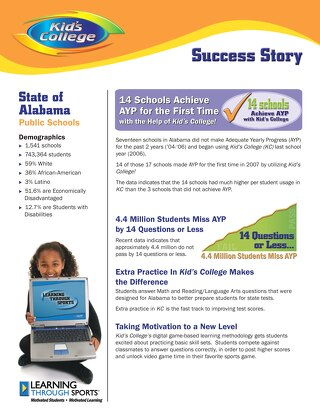 State of Alabama Public Schools Success Story