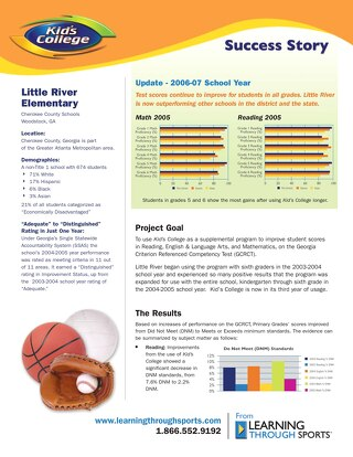 Woodstock, GA – Little River Elementary Success Story