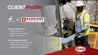 Client Profile: B2W Inform at Barriere Construction