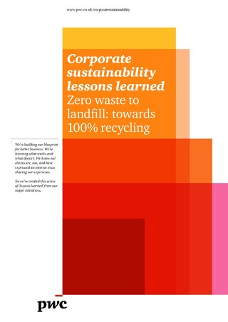 PwC Lessons Learned Zero Waste to Landfill
