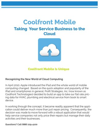Taking Your Service Business to the Cloud