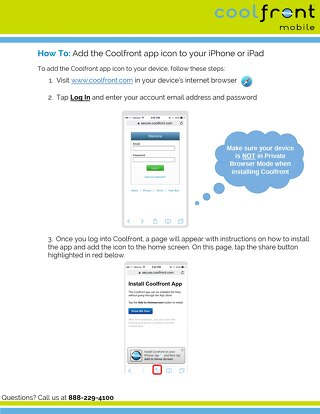 How to Add Coolfront Mobile App Icon to IOS Homepage