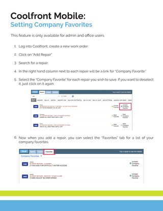 How To Set Company Favorites