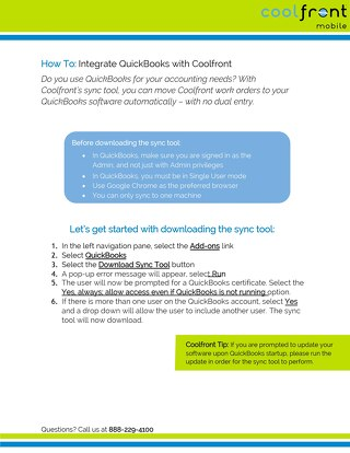 How To Integrate Quickbooks with Coolfront